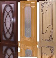 Шпонированные двери со сложной фрезеровкой