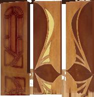Тонированные окрашенные двери